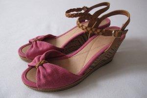 Sandale - Wedges von Görtz Gr. 38 in Pink