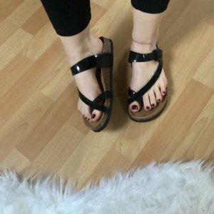 Toe-Post sandals black-brown
