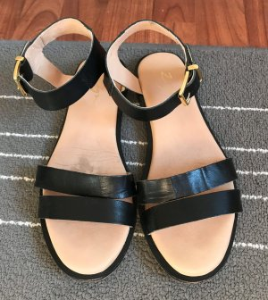 Sandale Zign Gr. 38 Echtleder Leder schwarz Sandalette Sommer Schuhe