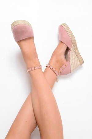 High-Heeled Sandals rose-gold-coloured