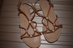 Forever 21 Beach Sandals light brown-black brown imitation leather