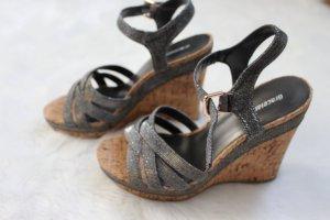 Graceland Sandalo con plateau argento