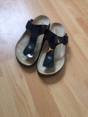 Toe-Post sandals black