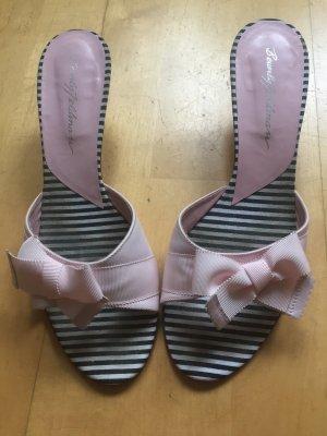 Beverly Feldman Platform Sandals black-pink
