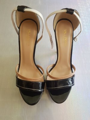 Sandalo infradito con tacco alto multicolore