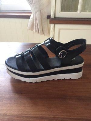 Sandales blanc-noir