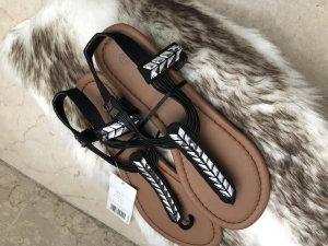 Esmara Toe-Post sandals black-silver-colored