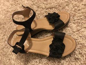Sandalias con plataforma negro