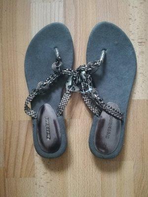 Graceland Sandalo infradito argento-grigio scuro