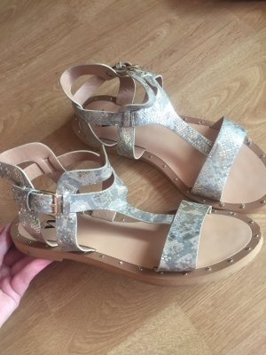 Sandalen met bandjes goud