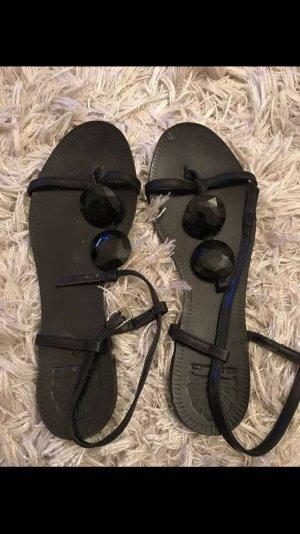 Solo Femme Clog Sandals black