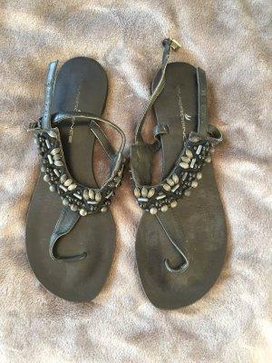 Toe-Post sandals black-grey