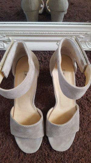 Paul Green Platform Sandals silver-colored-camel mixture fibre