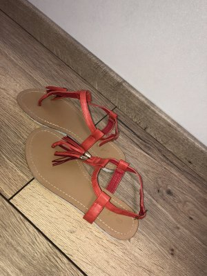Toe-Post sandals red-white