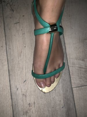 Bruno Premi Toe-Post sandals mint-gold-colored