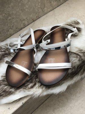 Esmara Sandalias de tiras blanco-color plata
