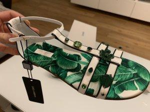 Dolce & Gabbana Sandalo outdoor bianco-verde bosco