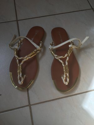 Beach Sandals white-gold-colored