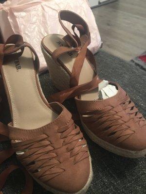 Espadrille sandalen brons