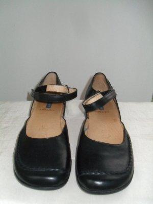 Sandales à lanière noir cuir