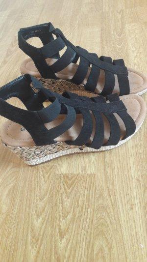 Deichmann High-Heeled Sandals black-brown