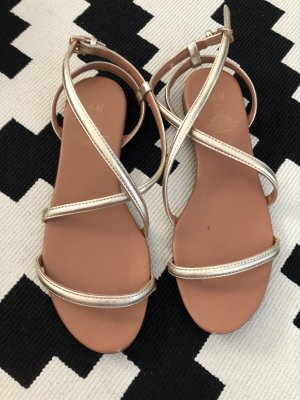 H&M Strapped Sandals nude-gold-colored