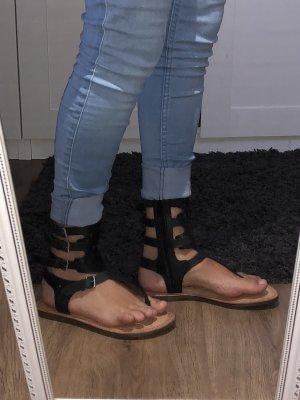 Tamaris Sandalias romanas negro-marrón