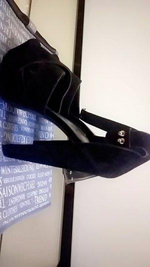 Truffle Collection Platform High-Heeled Sandal black