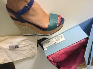 Sandalen, Absatzschuhe , Keilabsatz