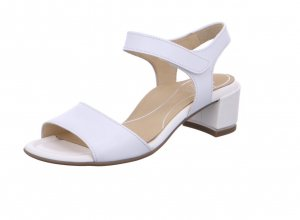 ara Strapped Sandals white leather
