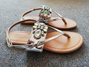Asos Sandalen met bandjes en hoge hakken zilver