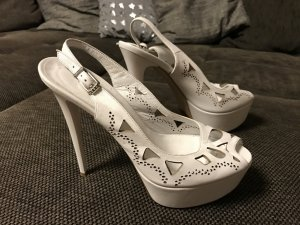 High Heel Sandal white leather