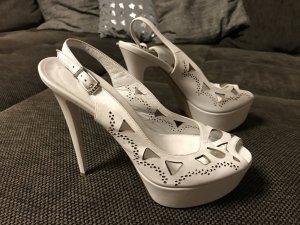 High Heel Sandal white leather