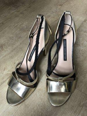 French Connection Sandalo con cinturino oro-nero