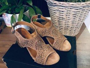 Sandalen aus Leder CaféNoir