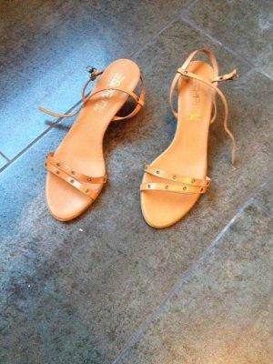 Sandalen aus Leder von Esprit Größe 40