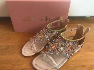 Alma en Pena Toe-Post sandals multicolored