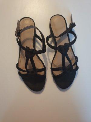 H&M Strapped High-Heeled Sandals black