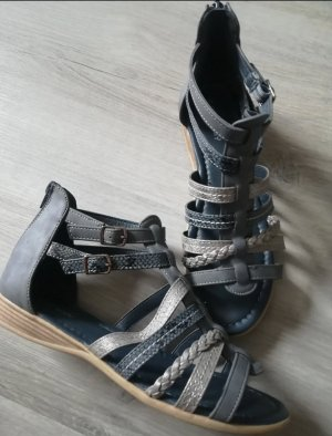 Strapped Sandals silver-colored-blue