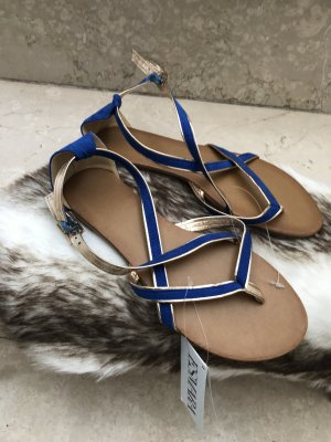 Esmara Toe-Post sandals blue-gold-colored
