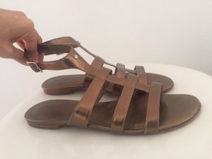 Flip*flop Roman Sandals bronze-colored leather