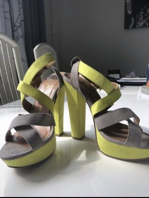 Atmosphere Dianette Sandals neon yellow-grey
