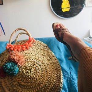 Sandalen clogs Italo Seventies Style Boho Hippiechic wie neu