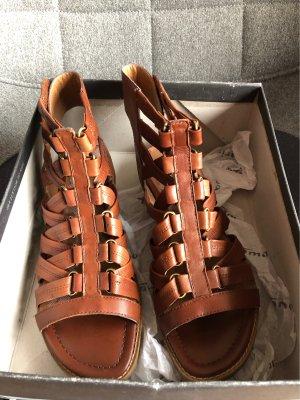 Sandalen, Cognac, 39, Tamaris, sehr guter Zustand, bequemes Fußbett