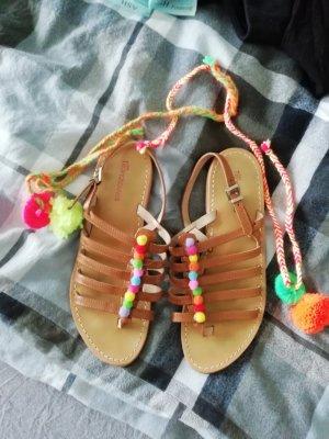 Les Tropéziennes Sandalias de tacón con barra en T multicolor