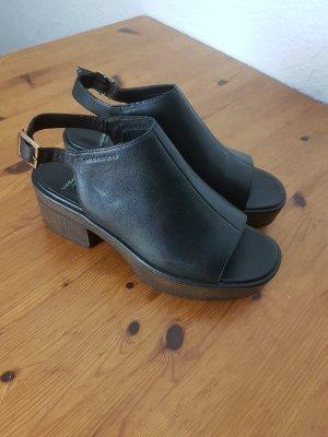 Vagabond Sandales à plateforme noir cuir