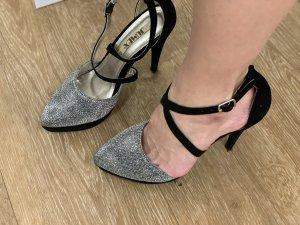 Jumex Sandalo con cinturino nero-argento
