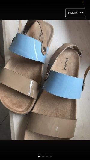 Deichmann Sandalo con plateau beige-azzurro
