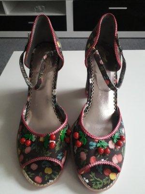 Sandales à plateforme multicolore