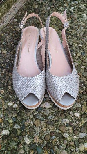 Andrea Puccini Platform High-Heeled Sandal light grey